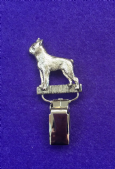 Dog Show Breed Ring Number Clip - Boston Terrier - FULL BODY Silver or Gold Style